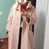Красивое пальто большого размера из мягкого кашемира размер 52-58, смотрите замеры