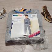 Германия!!! Коттоновая пижама с флисовыми штанами для мальчика! Можно на подарок! 110/116!
