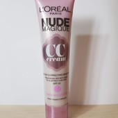 CC крем против усталого, тусклого цвета лица L'Oreal nude magique CC cream, spf 20
