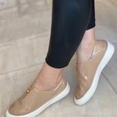 • повседневная Обувка! Мягкий, Эластичный эко-Лак !!!