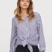 Рубашка в полоску с завязкой узлом. Смотрите мои лоты