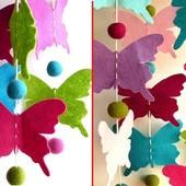 Фетровые бабочки 50шт