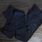 Теплые плотные эластичные черные лосины с начесом (байка), бедра до 100
