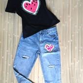 Шикарный костюм! Футболка+джинсы!