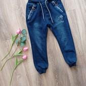 Наши зимние джинсы на меху 122, идеальное состояние