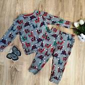 Хлопковая пижамка на 1-2 года M&S.