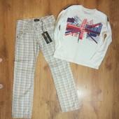 Крутий, стильний комплект на хлопчика 12 р. Нові штани і реглан.