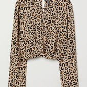 Блузка из креповой ткани H&M, 46eur