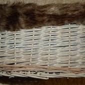 ивовая плетеная корзинка с меховой опушкой willow basket