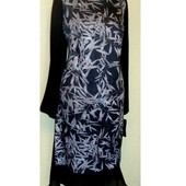 Распродажа ! Эффектное , стильное трикотажное с шифоном платье , Вилена Фэшн , Беларусь , р. 56 - 58