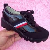 Закрытые туфельки на осень шнуровка + молния. Отличное качество. По акционной цене!