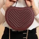 Стильна сумочка-сердечко