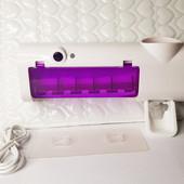 Держатель диспенсер для зубной пасты и щеток аккумуляторный со стерилизатором Toothbrush Sterilizer