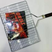 Решетка для гриля и барбекю , сетка для гриля на мангал с ручкой Grill 45х30 см.