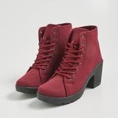 Классные ботинки(цвет бургунд) р .38,39,40..р.37(цвет черный)