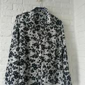 Фирменная блузка, рубашка женская цветочный принт