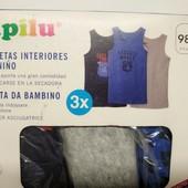 Майки для мальчика ⚠️ Lupilu ⚠️98-104. В лоте 3 штуки