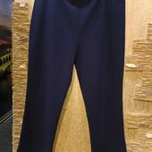 Королевский размер! Шикарные плотненькие фактурные стрейчевые тёмно-синие брюки р.24 Акция читайте