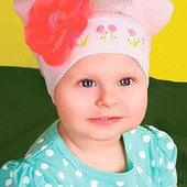 Миленькая косыночка ТМ DemboHouse р.42 на возраст 4-6 месяцев