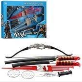 Игровой огромный набор ниндзя Ninja с аксессуарами в коробке 61 см -35 см -4,5см
