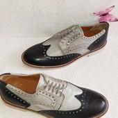 Кожаные туфли броги дерби 43р. Италия