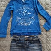 Юбочка джинсовая Gloria Jeans 6-8 лет