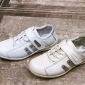 Детские полностью нат. кожанные кроссовки на липучке-Walker.Много отзывов.