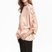 Атласная блузка с поясом H&M
