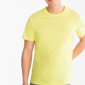 Качественная хлопковая футболка C&A, р.S, желтая