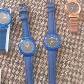годинник розпродаж синій на ремішку