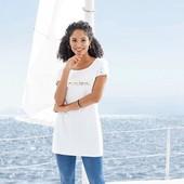 Классная удлинённая футболка, туника Esmara Германия размер евро М (40/42)