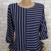 Блуза полоска в идеале 44-46 Некст