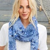 ☘ М'який тканий шарф для витонченого образу від Tchibo (Німеччина), розміри: 180 x 110 см см