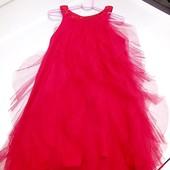 Стоп!!фирменное красивое яркое удобное нарядное пышное платье от name it