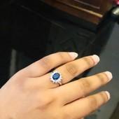 Шик! Кольцо с цирконием р16 в серебре