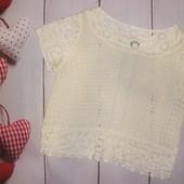 Ажурная блуза футболка H&M,р.М супер красивая!