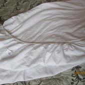 белая простынь на резинке 175х125