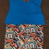 Новая стрейчевая юбка-карандаш поб-46см