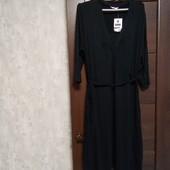 Фирменное новое трикотажное вискозное платье р.16-20