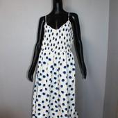 Качество! Натуральное макси платье от H&M в новом состоянии, р.XL+-