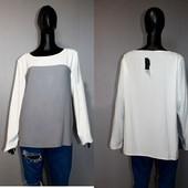 Качество! Стильная блуза от Dorothy Perkins, удлиненная спинка и змейки по боковым швам, р.18+-