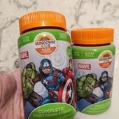 Детские жевательные мультивитамины «Marvel Avengers» со вкусом винограда, апельсина и вишни , 60 шт