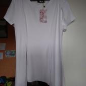 Новая белая блуза-туника Grand Fashion, р.Л