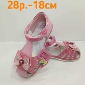 Лот - одна пара на выбор. классные удобные босоножки, сандалии девочка 26 и 28р. (16,5 и 18см)