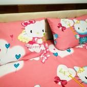 Hello Kitty Наволочка 50*70! Яркая детская расцветка! Отличное качество!