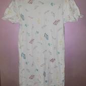 Ночная рубашка сорочка для девочки из натурального хлопка на 11-12 лет рост 152 см