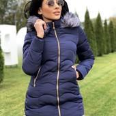 Куртка зимняя, М, приталенная. Распродажа, бесплатная доставка укр почтой