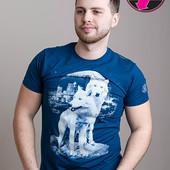 Мужская футболка волки размеры L, XL