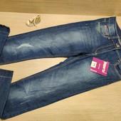 Германия!!! Клёвые джинсы для девочки, скинни! 146 рост!!