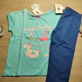 Польша! Комплект для девочки: коттоновая футболка и капри! 134 рост! 429 грн и 149 грн по ценнику
